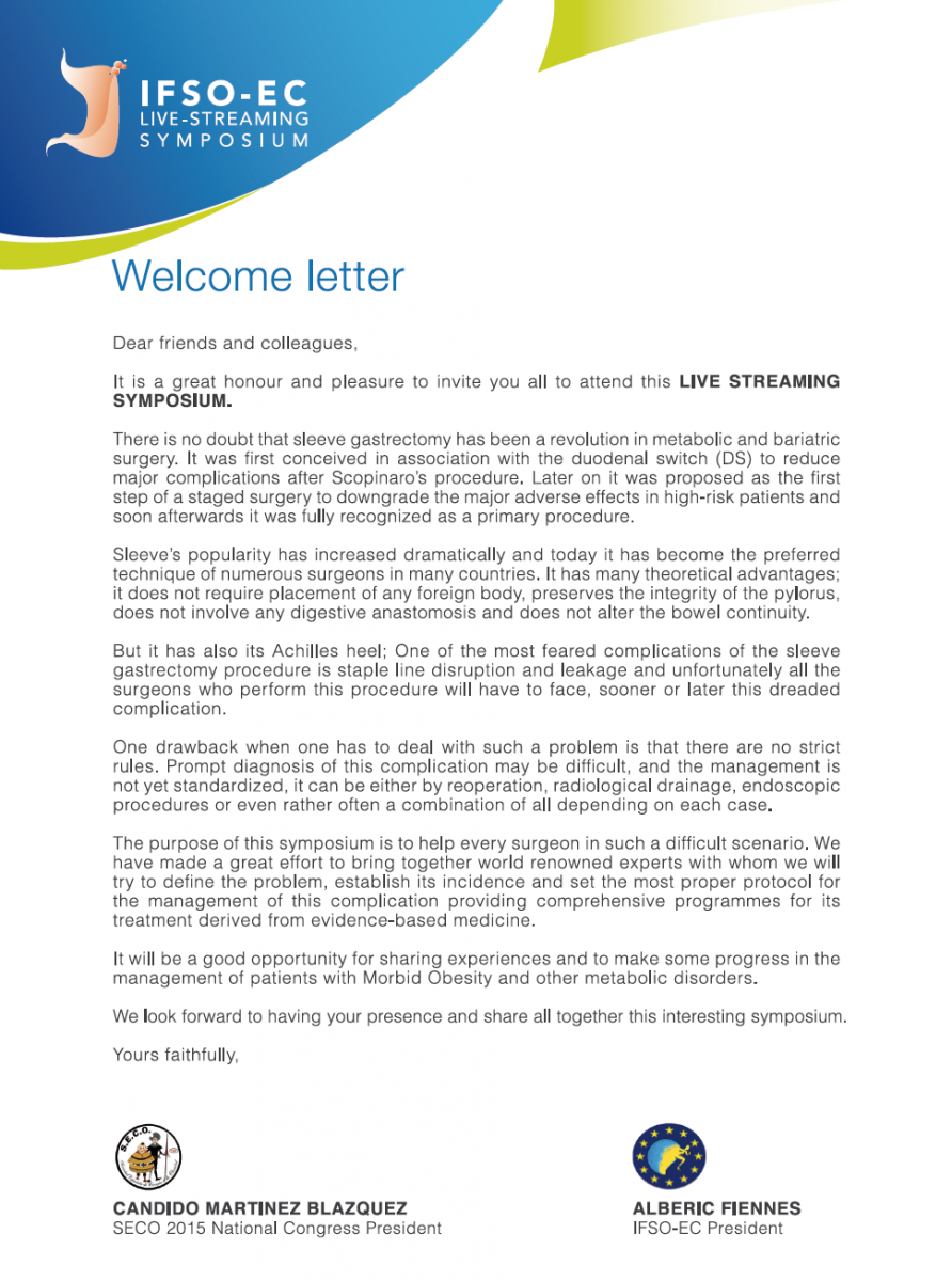 Home » Welcome Letter